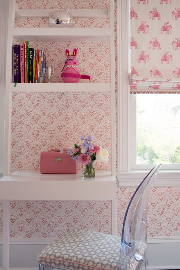 pink study area